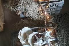 Ilmoitus: Myydään! Meriaiheisia koristeita häihin