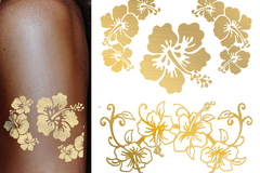 Make An Offer: Gold and Silver Metallic Temporary Tattoos
