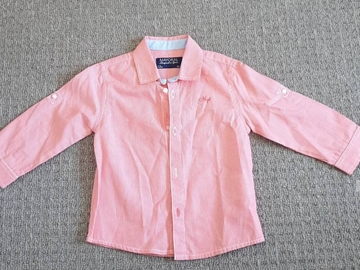 Selling with online payment: Spanish mayoral coral shirt, age 9-12 Mths