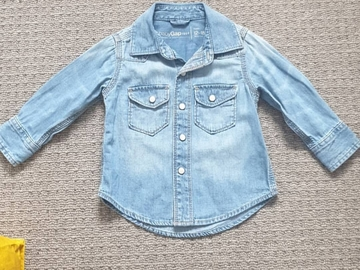 Selling with online payment: Baby gap denim shirt, age 18-24 Mths