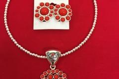 Buy Now: 50 sets--  Silvertone necklace w/Pendant & Clip Earrings $1.99
