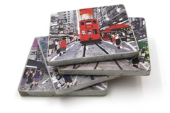 : Handmade Cement Coasters - set of 4