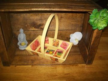Vente au détail: panier en bois gâteaux