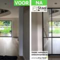 Click voor info: [REALISATIE] Staal met Stijl |  Stalen glazen deur | RAL9005S