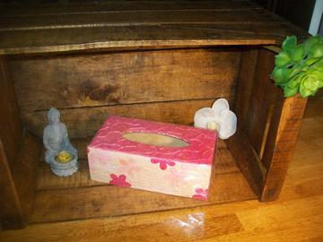 Vente au détail: boîte a mouchoirs rose