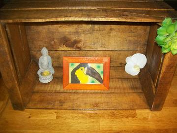 Vente au détail: tableau de sable oiseau