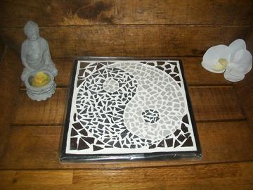 Vente au détail: dessous de plat yin yang mosaïque