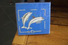 Vente au détail: tableau décor dauphins