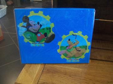 Vente au détail: tableau illustration Mickey et Pluto