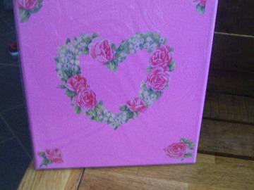 Vente au détail: tableau coeur de roses