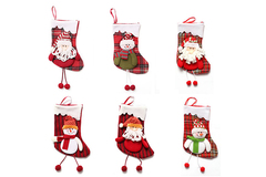 Buy Now: 100 PCS New Christmas Santa Socks  Xmas Tree Hanging Decoration