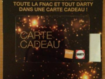Vente: Carte cadeau Fnac-Darty (250€)