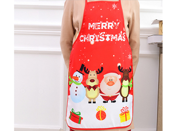 Buy Now: 100 PCS  Adult Christmas Apron Santa Lady Printed Cartoon