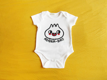 : ADORABAO – Organic Cotton Unisex Baby Onesie