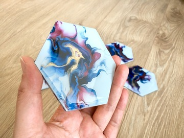 : Hand Painted Wood Coaster