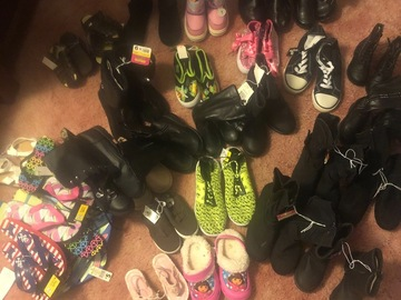 Buy Now: Huge lot of kids shoes and boots all sizes  25+ pairs
