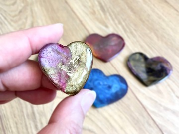 : Red/Gold Heart Magnet - Small
