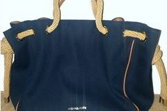Buy Now: 3pc Lot Mickael Kors Large Navy Blue/ Black/Giraffe Tote Bags Lot