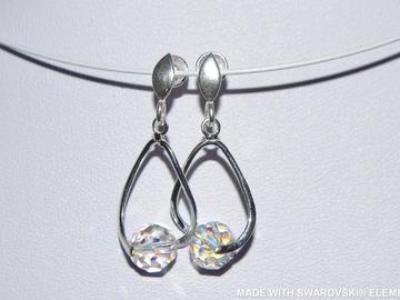 Vente au détail: SWAROVSKI Boucles d'oreilles cristal multicolore / argent 925