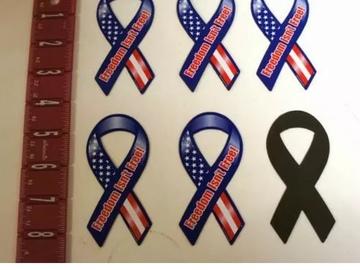 Buy Now: Freedom Isn't Free Mini Patriotic 4″ Ribbon Magnet