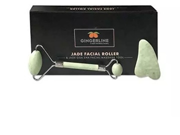 Buy Now: Gingerline Jade Roller And Gua Sha Facial Massage Tool Set