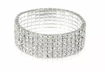 Buy Now: Swarovski Elements Crystal Tennis Silver Tone Bracelet Jewelry –