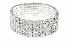 Buy Now: Swarovski Elements Crystal Tennis Silver Tone Bracelet Jewelry –