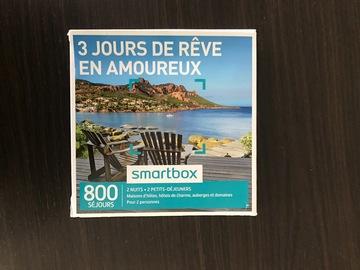 """Vente: Smartbox """"3 jours de rêves en amoureux"""" (119,90€)"""