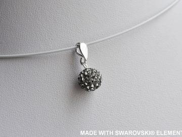 Sale retail: SWAROVSKI Pendentif boule grise / argent 925