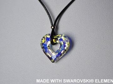Vente au détail: SWAROVSKI Pendentif cristal cœur sur cordon ciré