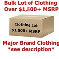 Buy Now: $1,500+ Wholesale Lot Men's/Women's Clothing - Major Designer