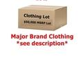 Buy Now: $50,000 + Wholesale Lot Men's/Women's Clothing - Major Designer