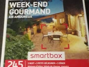 """Vente: Smartbox """"Week-end gourmand en amoureux"""" (89,90€)"""