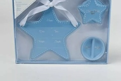 Buy Now: BABY ANNOUNCEMENT GIFT SET 3PC STAR BOXED BLUE, Case Pack of 4