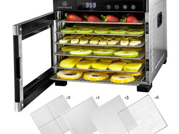 Other Item: ChefWave 6 Tray Food Dehydrator Machine w/Digital Control S.Steel