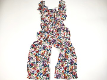 Selling with online payment: Patterned flower jumpsuit BNWT, age 4-5 Yrs