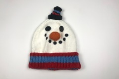 Selling with online payment: Snowman Beanie, One size (estimated 6-8Yrs)