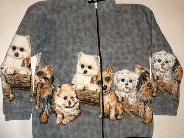 Selling: ZooFleece Terrier Dogs Cute Puppies Gray Sweater Pet Jacket
