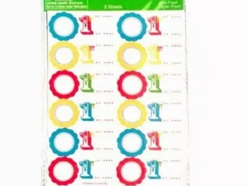 Buy Now: 1st Birthday Personalize Write-In Stickers (2-Sheets) – Only 30 C
