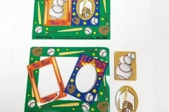 Buy Now: Baseball Themed Decorated Punch Out Magnet Picture Frames