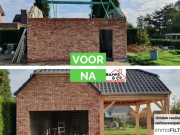 Click voor info: [REALISATIE] Dakwerken Bamps en co | Garage en carport in eik