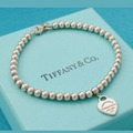 """Gifts: (SOLD) Tiffany & Co Mini Heart Bracelet 8"""" inches + Box"""