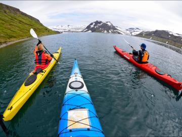 Book (with online payment): Fjords du Nord Ouest en kayak - Islande