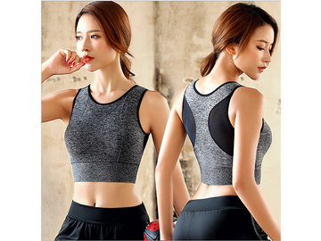 Buy Now: 120 PCS No steel ring mesh back double layer sports bra for women