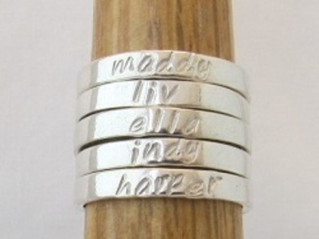 Products: Personalised Band Rings