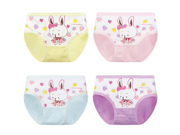 Buy Now: 384 Pieces Cartoon rabbit girl's triangle underwear