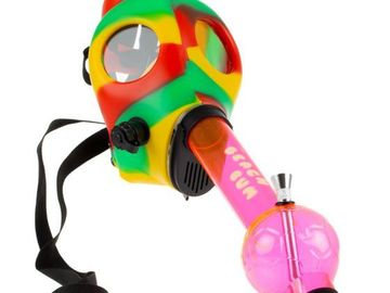 Post Products:  The Beach Bum Gas Mask Bong with Acrylic Tube 9.8