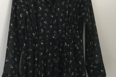 Selling: Long sleeved floral button up dress