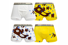 Buy Now: 240 PCS Cute cartoon bear printed cotton  boys' underwear