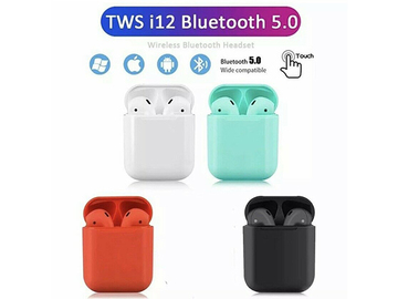 Buy Now: 20 Pairs i12 TWS bluetooth wireless earphones for iPhone  Android